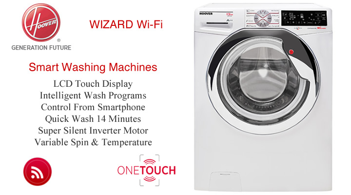 Hoover Wizard WiFi Washing Machines Smart Control