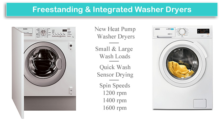 Washer Dryers Freestanding and Integrated